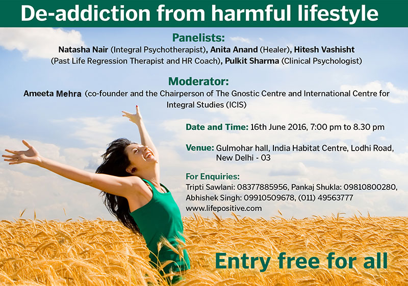De-addiction from harmful lifestyle