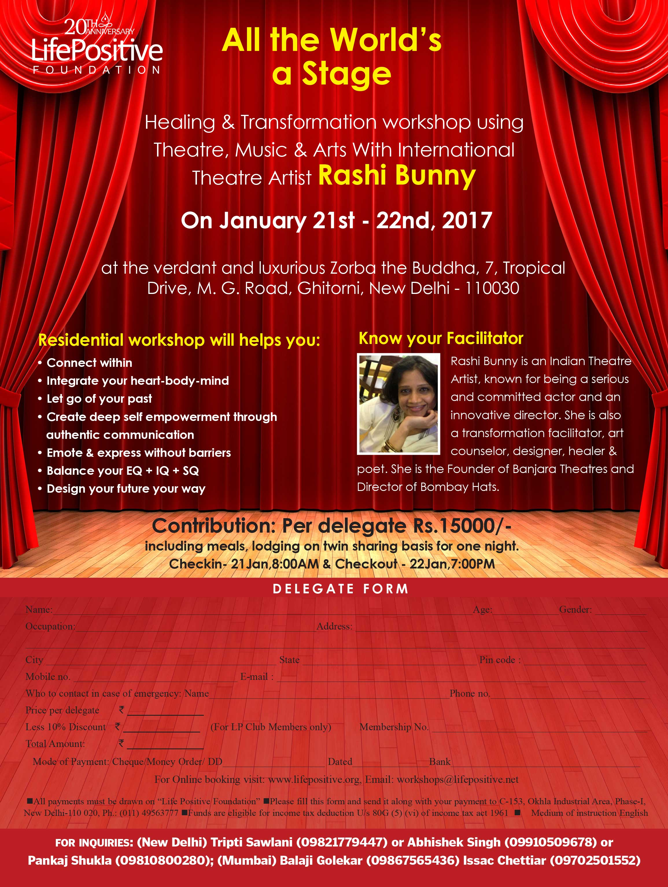 Healing and transformation with international theatre artist Rashi Bunny