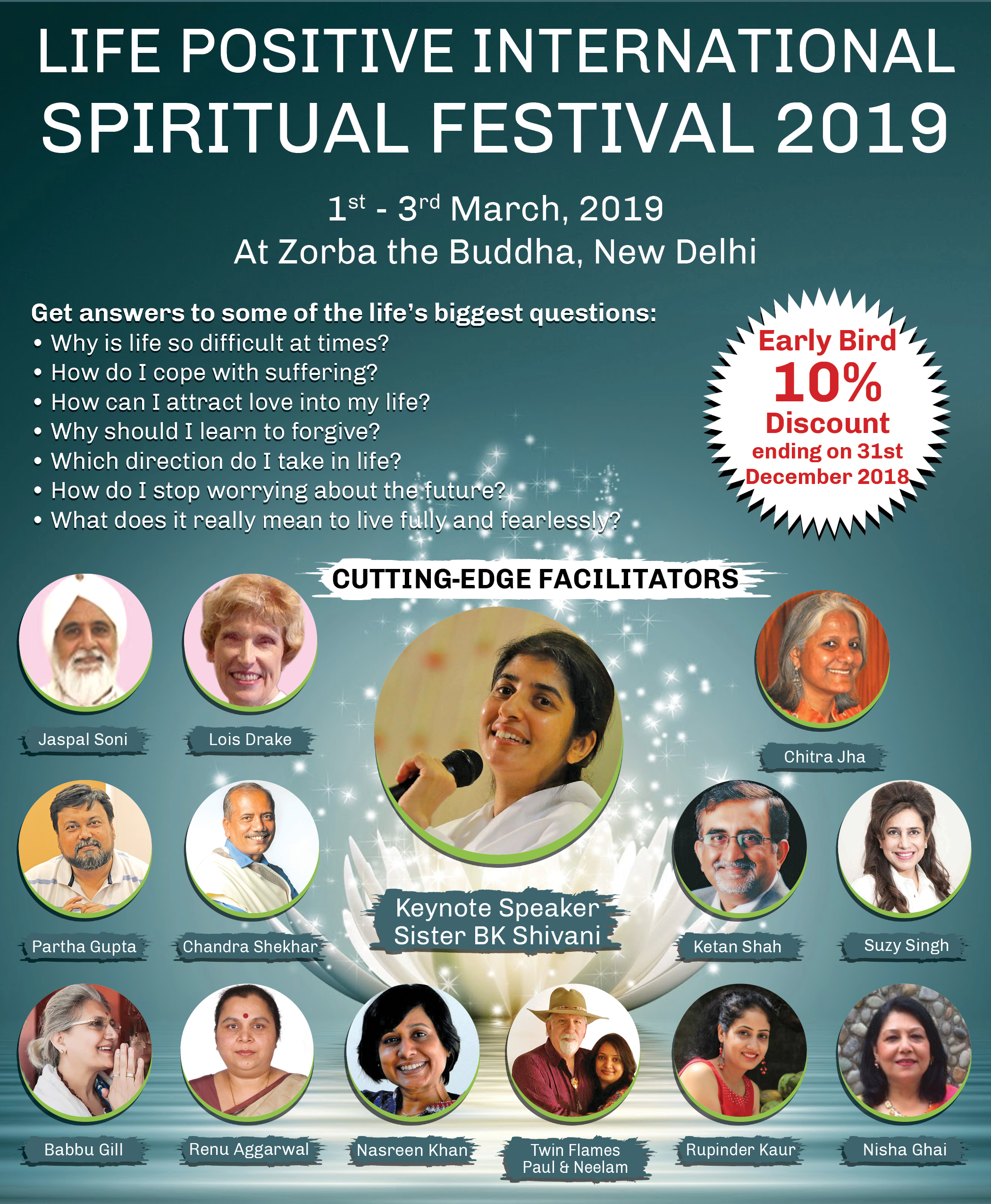 Life Positive International Spiritual  Festival-2019